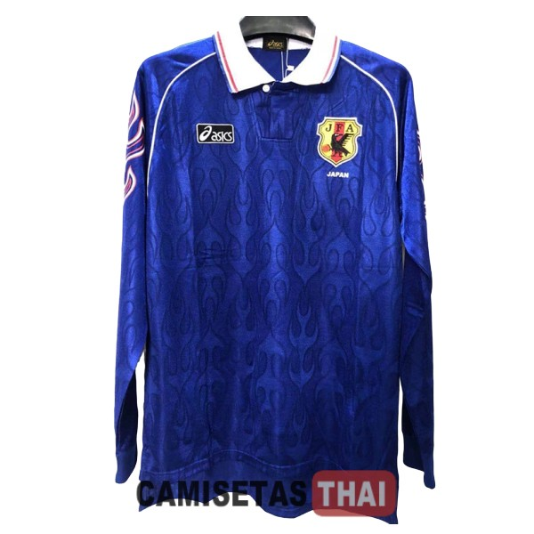 1998-1999 camiseta manga larga retro local japon